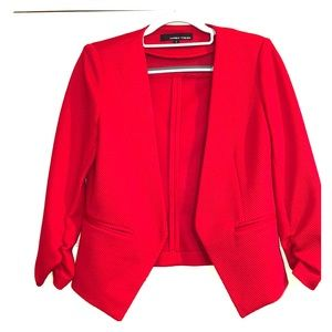 NWOT Red 3/4 Sleeve Cropped Blazer - Size S